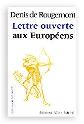 Lettre ouverte aux europeens