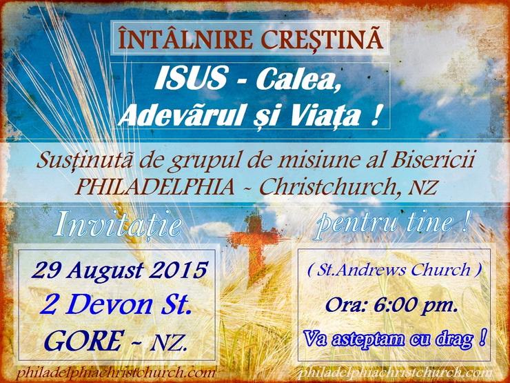 Noua Zeelandă Facebook: Eveniment Creștin – GORE, Noua Zeelandă