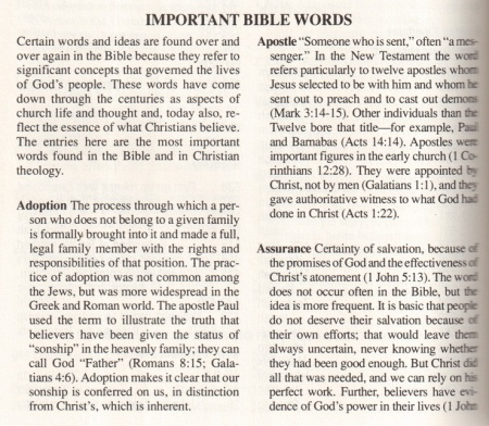 important-bible-words