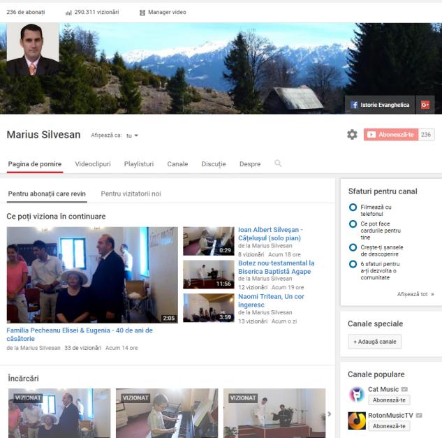 YouTube 2016-06-27 - abonati și vizualizări